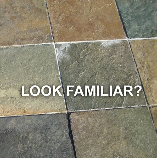 Purged Efflorescence In Grout Lines, SOLUTION
