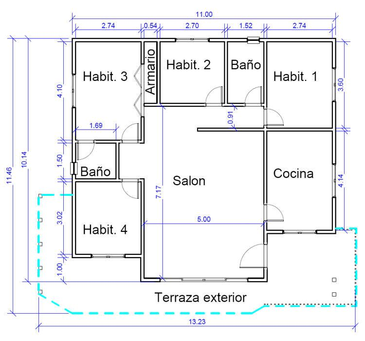 Plano 2 casa de madera madrid ideas para maqueta pinterest for Plano instalacion electrica