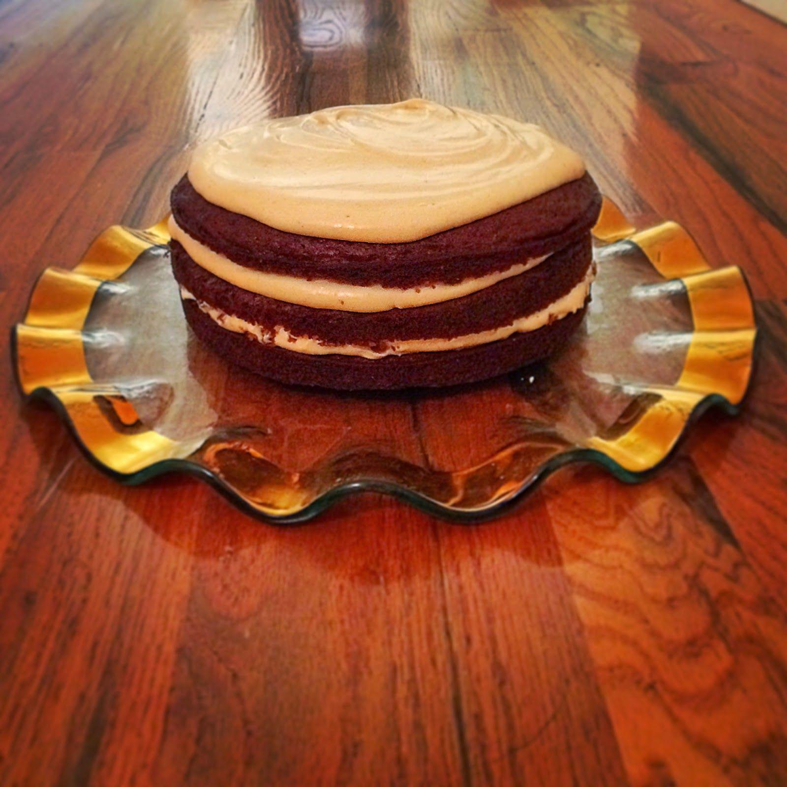 Gluten free pumpkin spice cake with pumpkin cream cheese