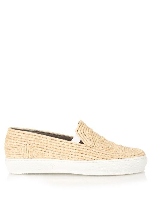 f94537a5e31 ROBERT CLERGERIE Raffia Slip-On Trainers.  robertclergerie  shoes  sneakers