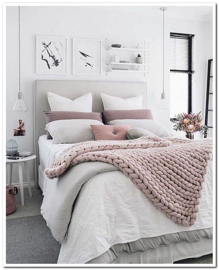 40 Cozy Bedroom Decor Ideas Page 36 Of 61 Afshin Decor Pink Bedroom Decor White Bedroom Cozy Aesthetic Bedroom