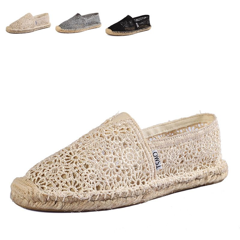 Toms Natural Flax Sole Crochet Women's Classics