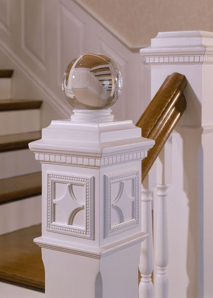 Attractive Love The Glass Finial On Top Of A Square Newel Post