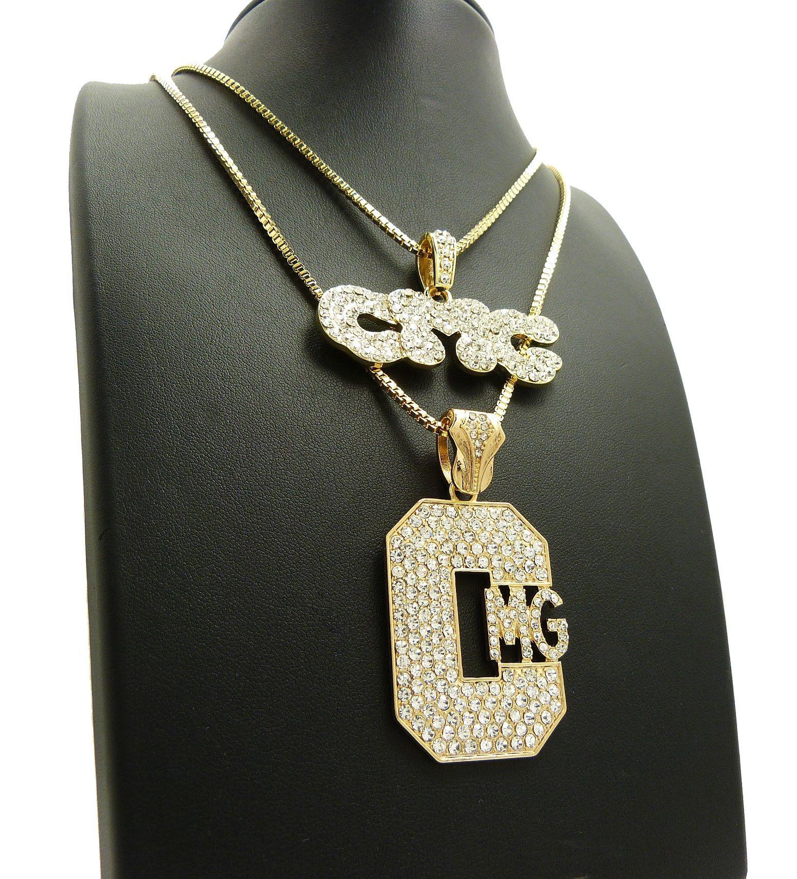 Fashion Star Pendant White Gold Fn /& Simulated Diamond With 18 Box Chain