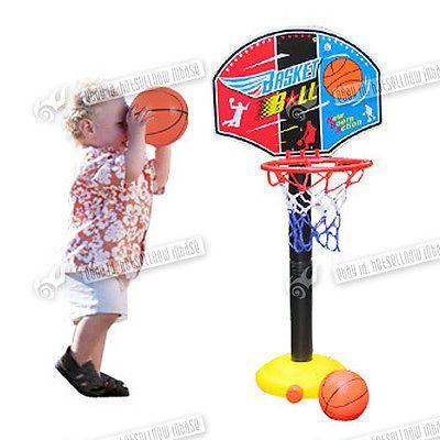 Adjustable Basketball Stand Backboard Nets Ball Pump Hoop Children Kids Toys
