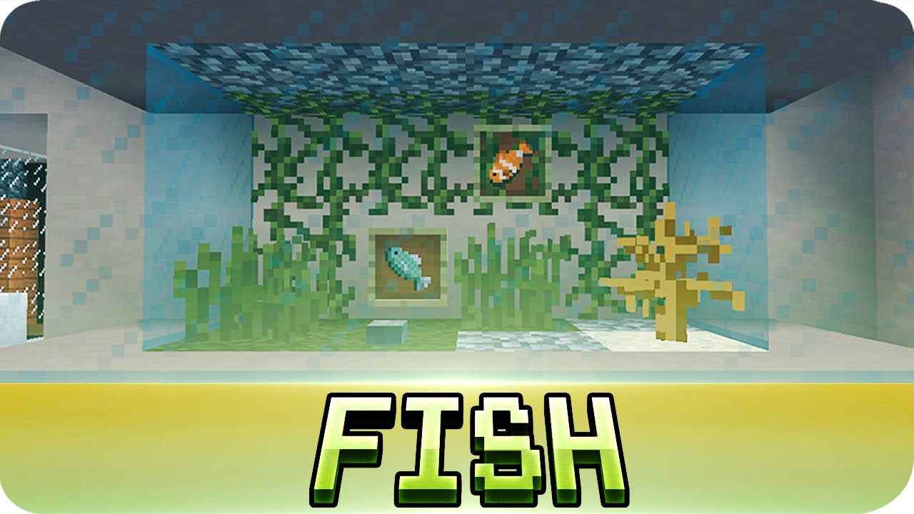 Zombie fish tank youtube - Minecraft Aquarium Fish Tank Tutorial Decoration Ideas Youtube