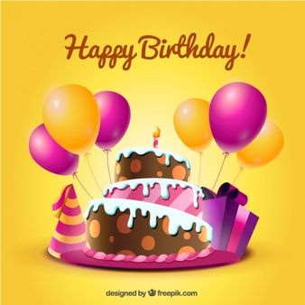 Birthday card with cake and balloons in cartoon style birthday yes today is my birthday today i am 29 years old so for my special day i have decided to share a little more about me is there anything left that i bookmarktalkfo Images