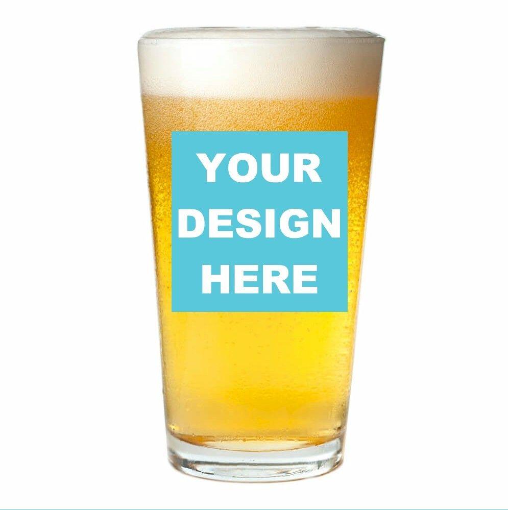 Custom Design Personalized Pint Glass (16 oz) | Pint glass ...