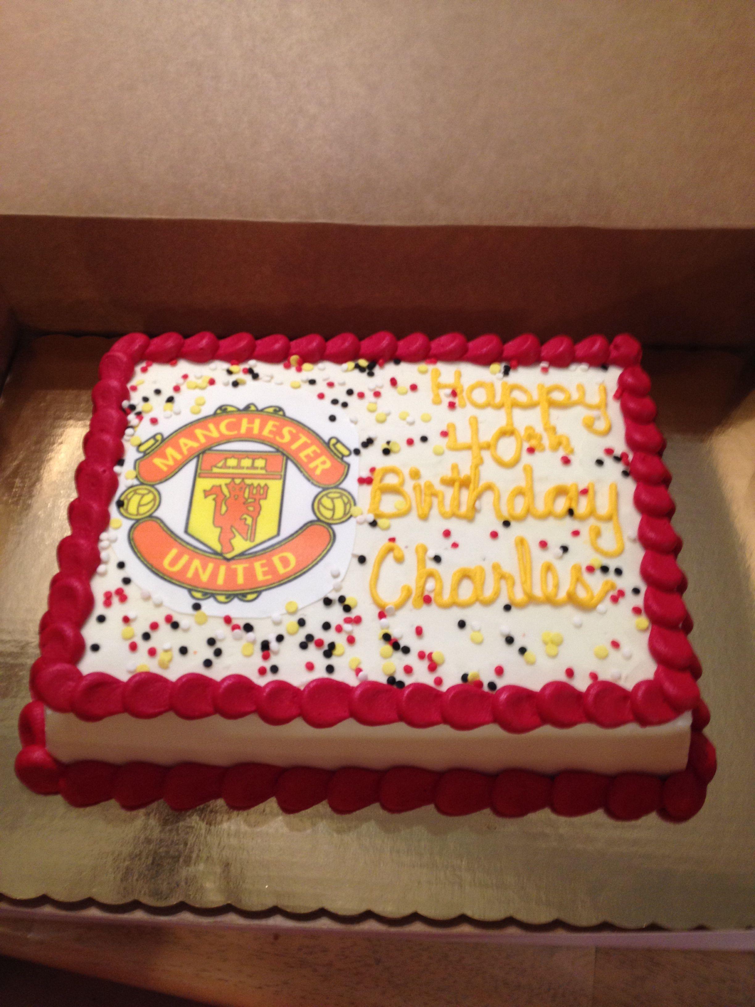 Manchester United Cake Kids Cake Birthday Manchester United Cake
