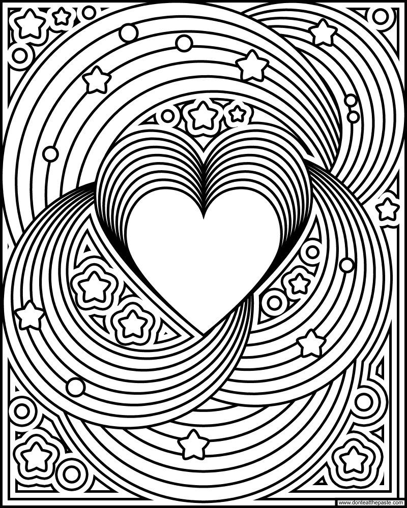 Rainbow Love Coloring Page Heart Coloring Pages Love Coloring