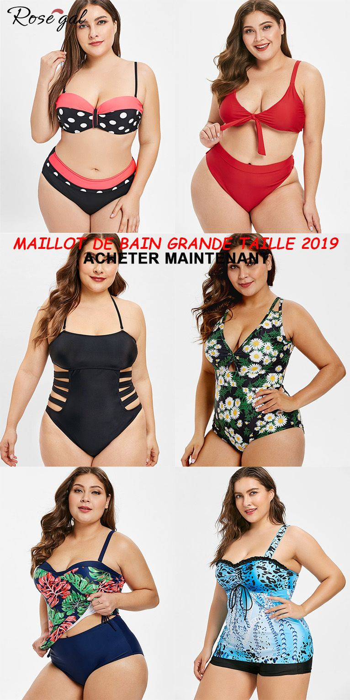 2e13184cd5 Maillot de bain grande taille tendance 2019 #Rosegal #femme #mode ...