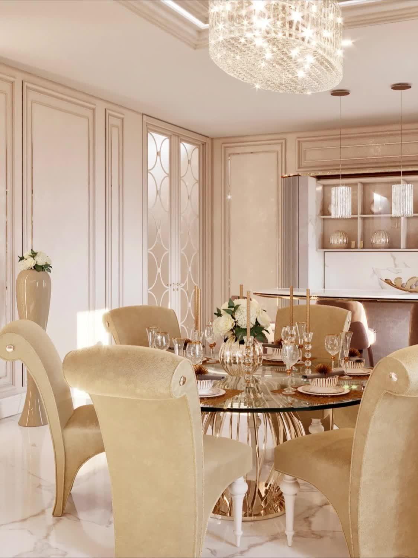 Luxury Classic Interior Design In Dubai Uae 2020 Video Video Luxury House Interior Design Dining Room Design Luxury Decor
