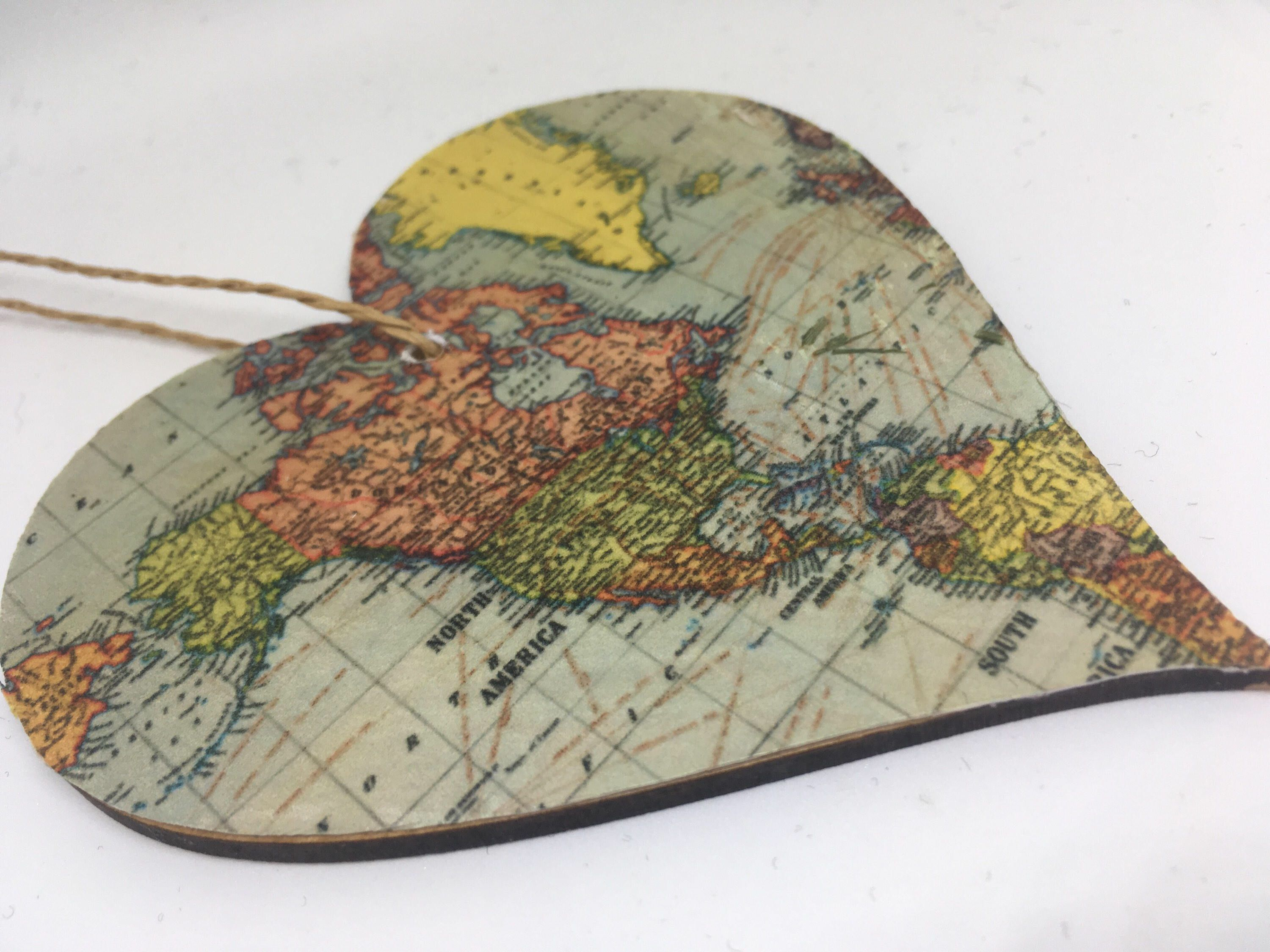 United states of america usa north america canada world map united states of america usa north america canada world map hanging heart decorative vintage map design home decor travel gift christ gumiabroncs Images