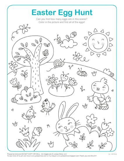 Easter Egg Hunt Math Activity Coloring Page Easter Activities For Kids Easter Kindergarten Easter Coloring Pages