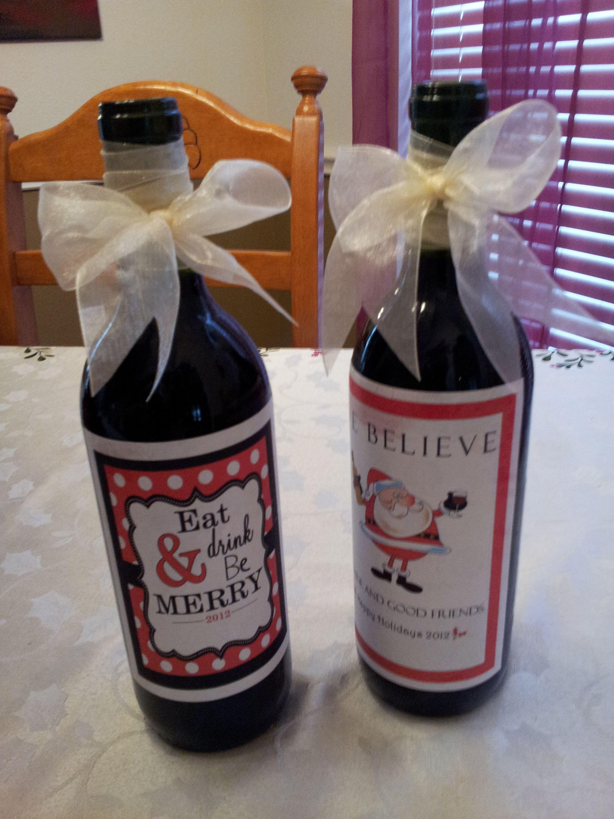 Diy Wine Bottle Labels My Diy Holiday Wine Bottle Project So Cute D Remove Wine Bottle
