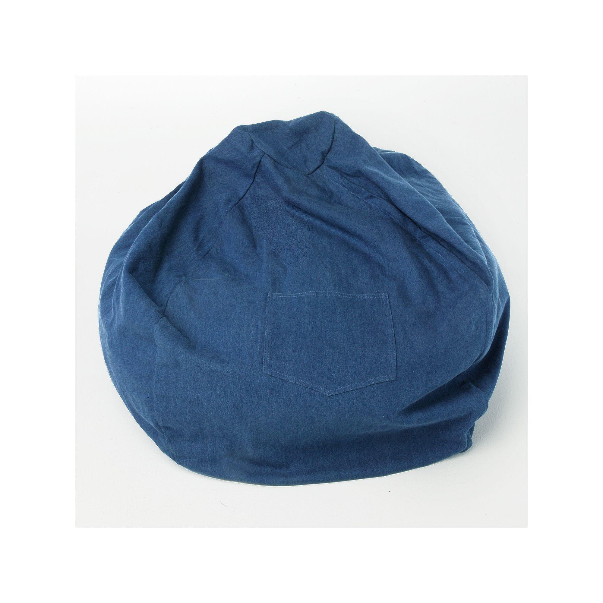 Fun Furnishings Blue Denim Large Beanbag Chair