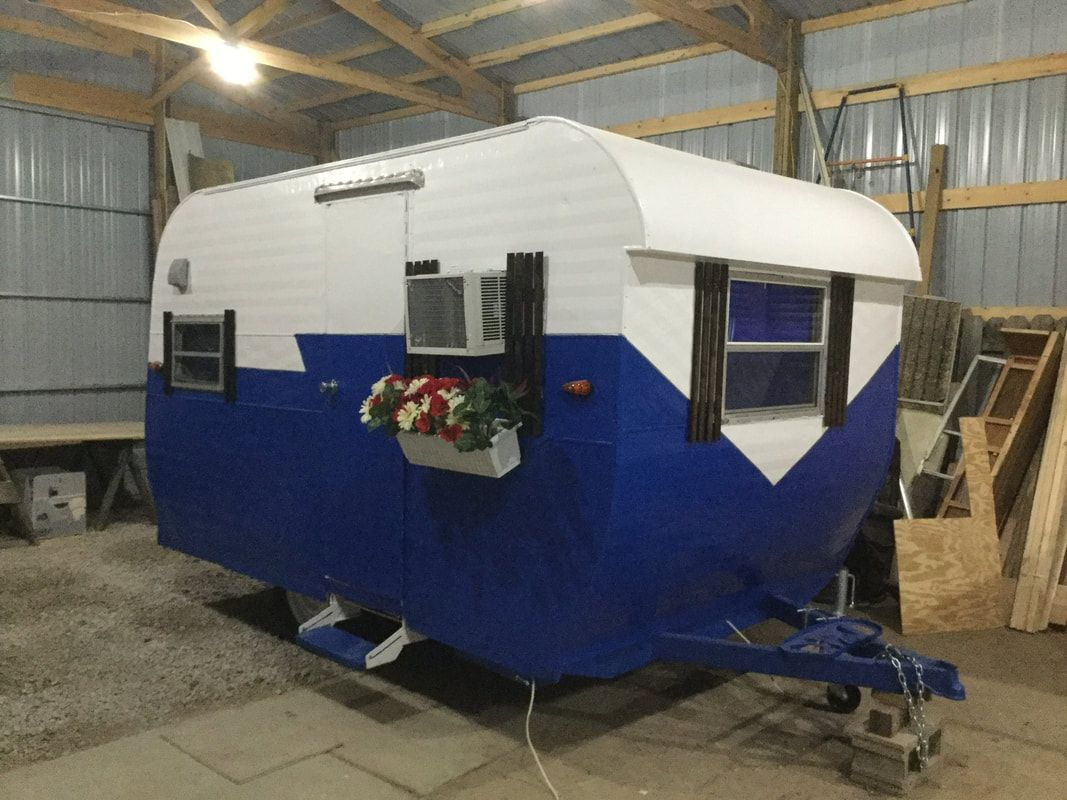 Vintage Camper Trailers For Sale 1964 Cree. 13', weighs