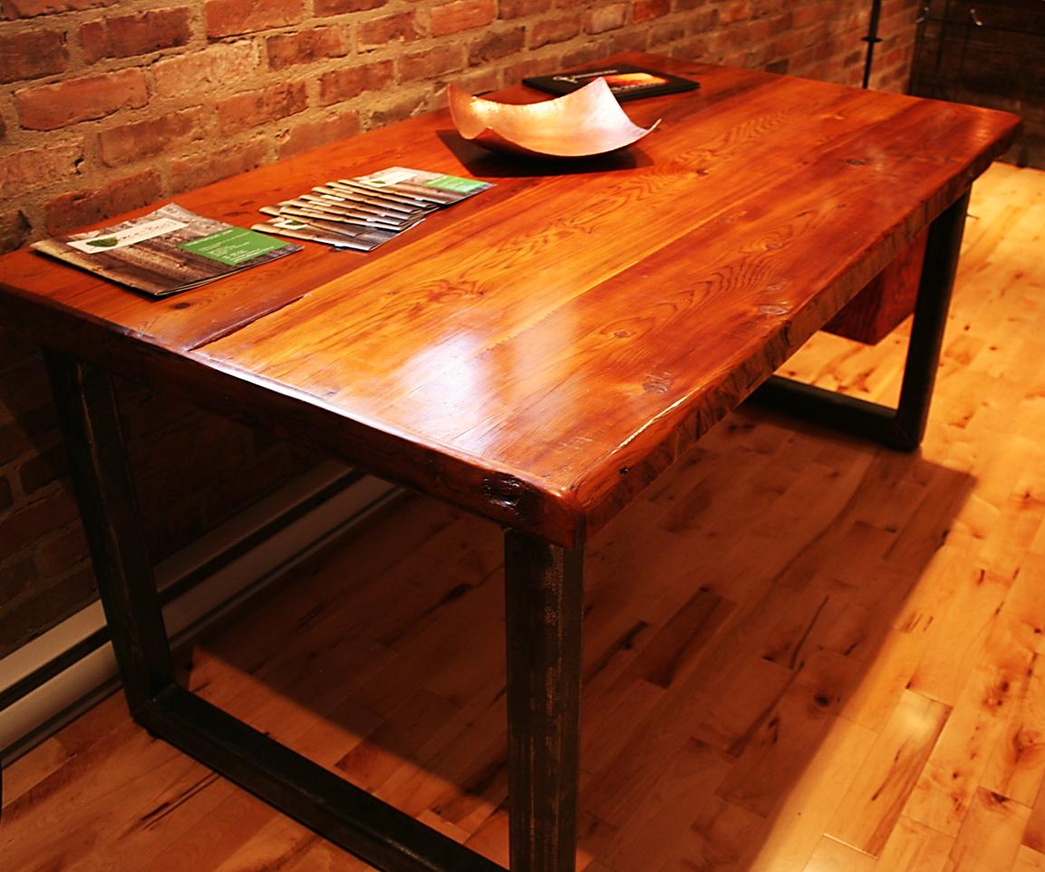 Table En Bois De Grange Espace Bois Maison D Co  # Table Bois De Grange