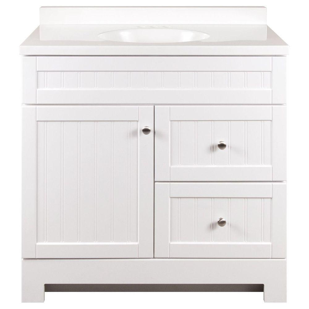 style selections ellenbee 36 5 in white single sink on lowes vanity id=88448