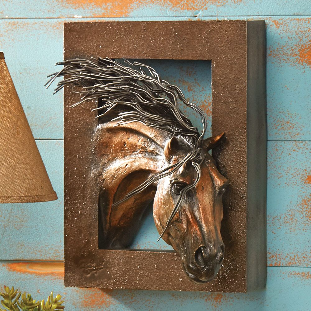 Wild Beauty 3 D Horse Wall Sculpture Horse Wall Wall Sculptures Animal Mural