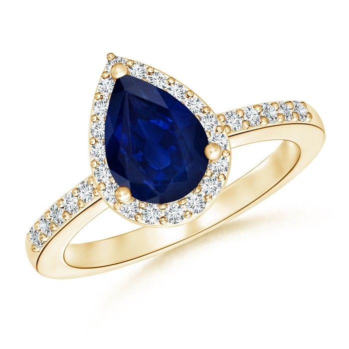 Angara Vintage Inspired Emerald-Cut Tanzanite Halo Ring in Platinum doEjXC0Am