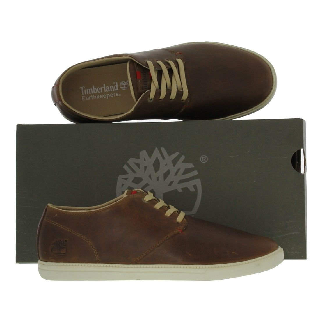 Timberland Mens Earthkeeper Fulk Low Shoes Light Brown - £69.99