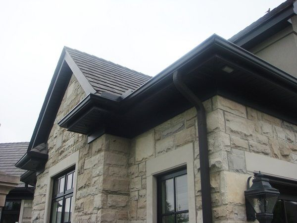 Black Aluminum Soffit Fascia And Trough Supplied By