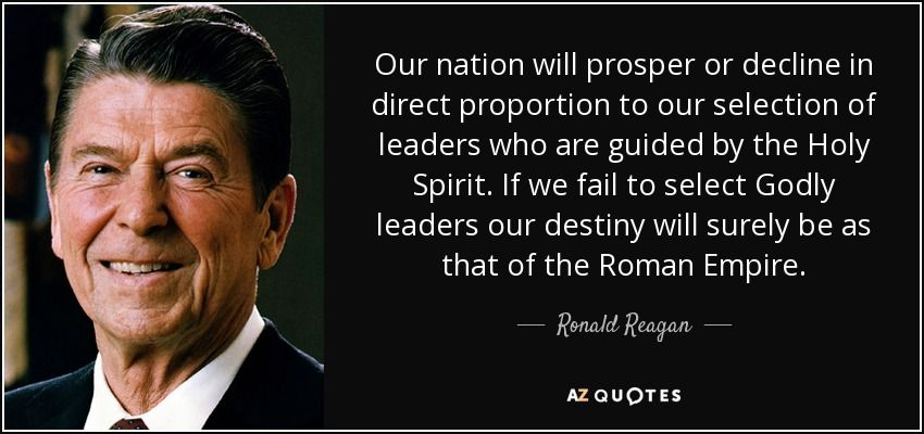 Ronald Reagan Quotes Unique Ronald Reagan Quote Our Nation Will Prosper Or Decline In Direct