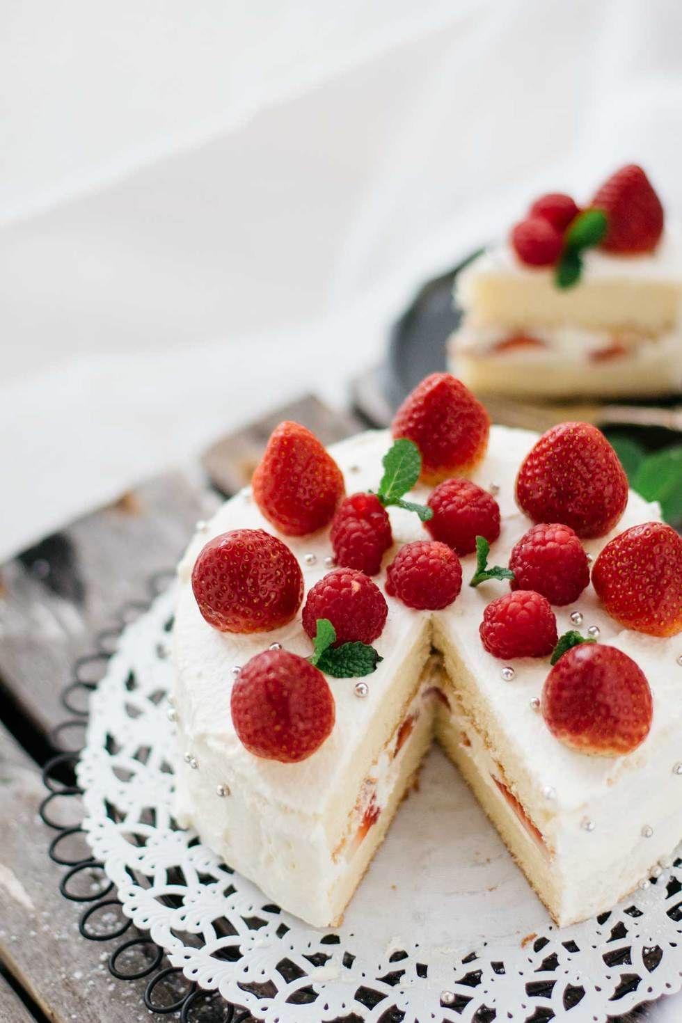 Japanese Birthday Cake Cake Pinterest Cake Birthday Cake And