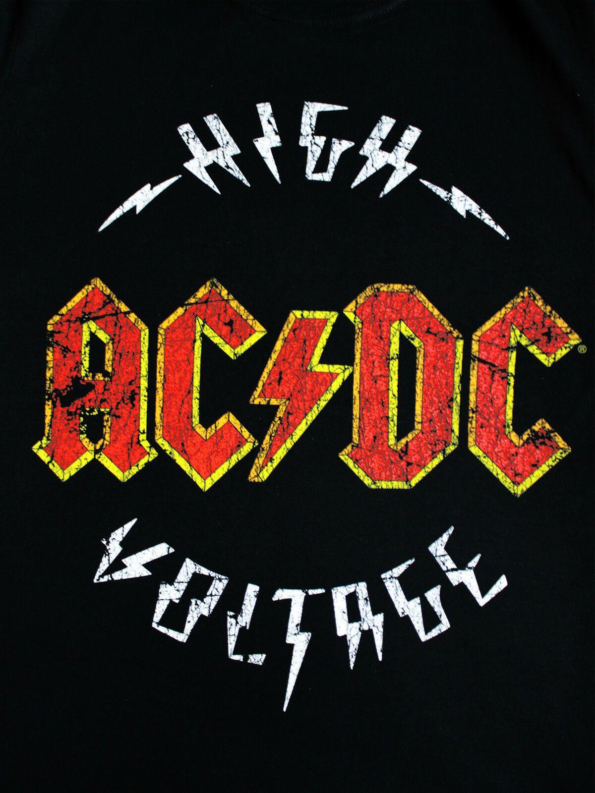 Ac/dc High Voltage : ac/dc, voltage, AC/DC, Voltage, Official, Music, Black, T-shirt, Logos,, Posters,