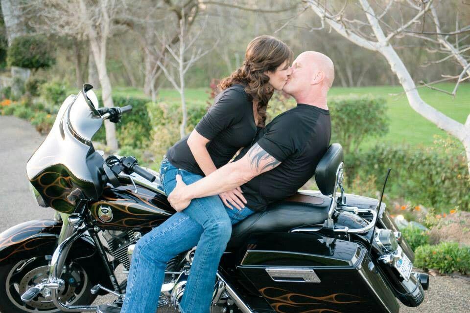 Harley Davidson Motorcycle Engagement Photo Motorcycle Wedding Biker Wedding Motorcycle Engagement Photos
