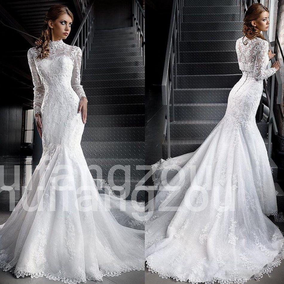 Where to find long sleeve wedding dresses  Cool Amazing Wedding Dresses Bridal Gowns Long Sleeves Mermaid