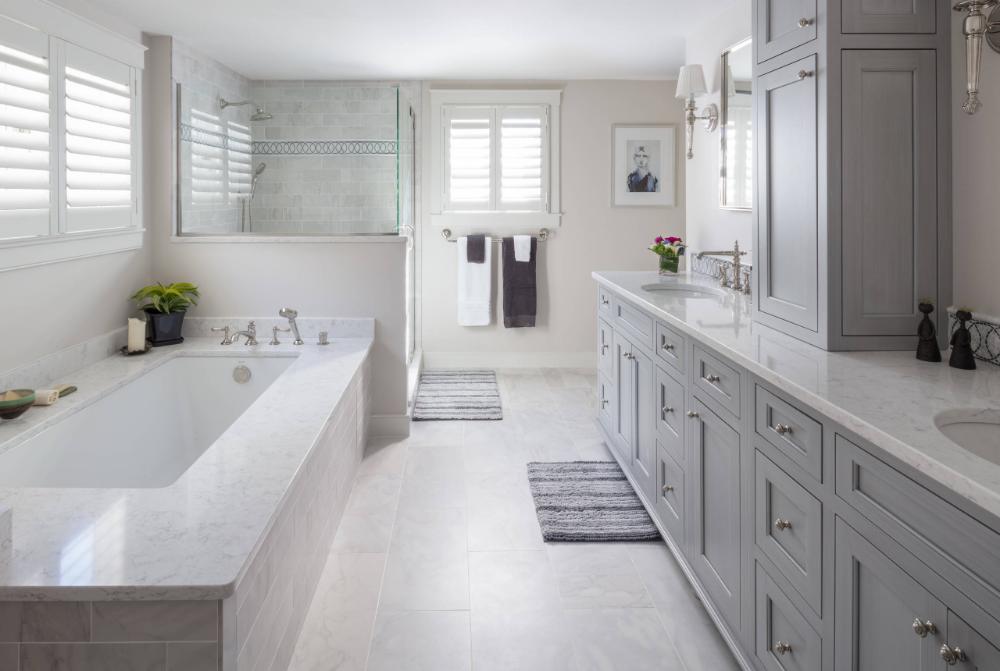 Classic Elegance Traditional Bathroom Boston By Kitchen Bath Gallery Condo Bathroom All White Bathroom Traditional Bathroom