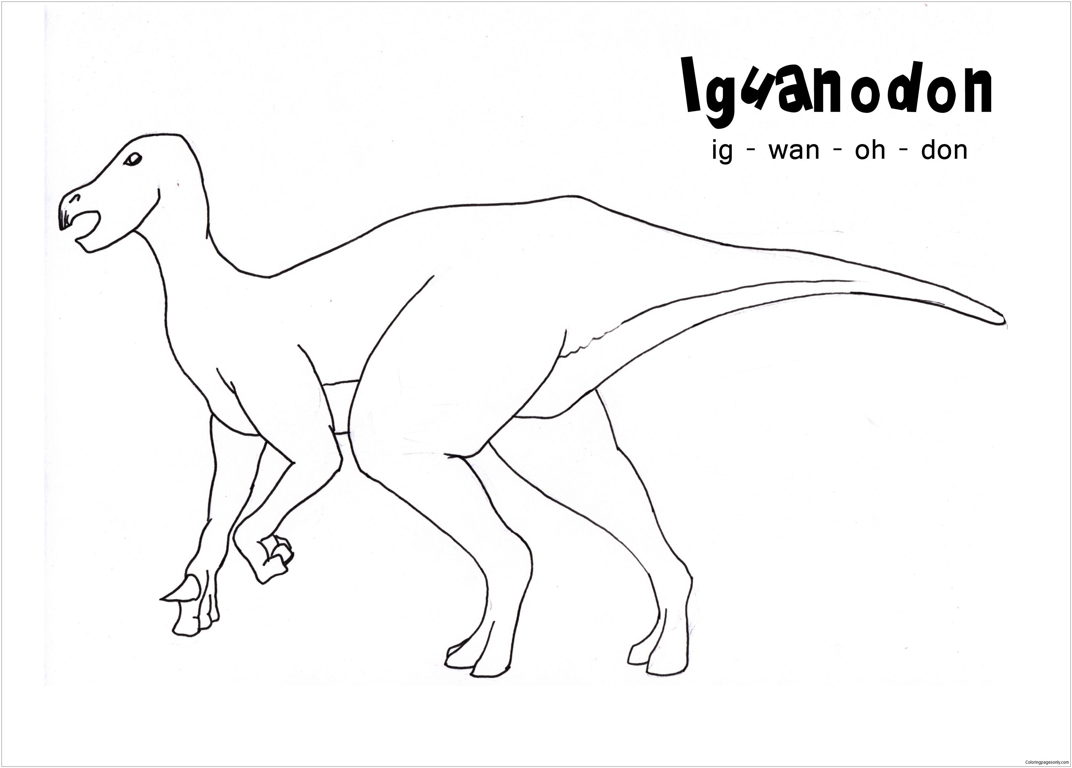 Iguanodon Coloring Pages Printable