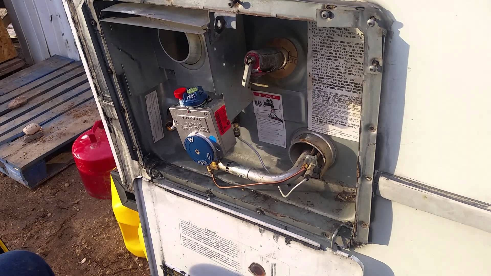 Atwood water heater gas control valve replacecement rv