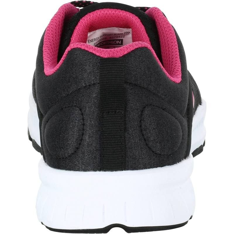 13e6b4715943 Fitness cardio Scarpe donna - Scarpe donna 100 nero-rosa DOMYOS - Utilizzo