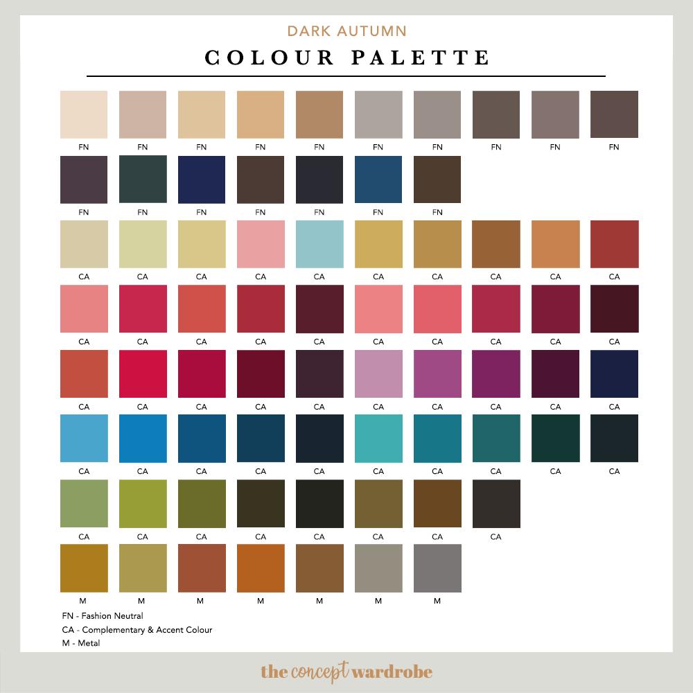 DARK AUTUMN | Colour Palette
