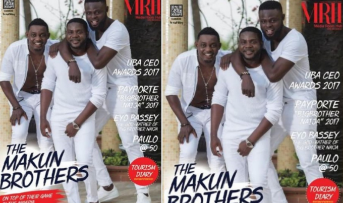 Family Is Everything! Comedian Ay Makun & Brothers Cover Media Room Hub Magazine April Edition