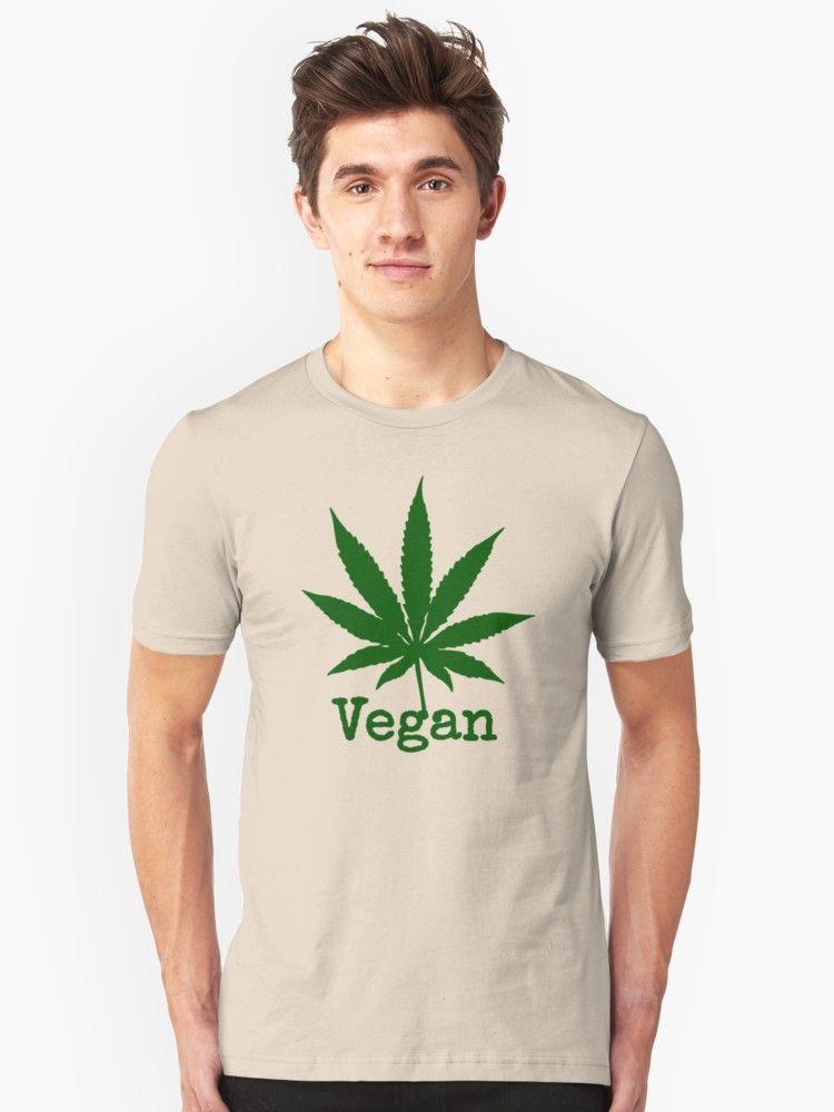 Vegetarian tshirt THC Weed Cannabis T-shirt Funny Marijuana Shirt Vegan Weed Tee