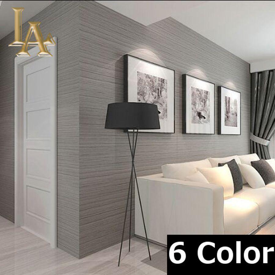 No tejido que cubre La Pared Simple Textura Rayada Wallpaper Moderno papel  de Pared Decoracin Para