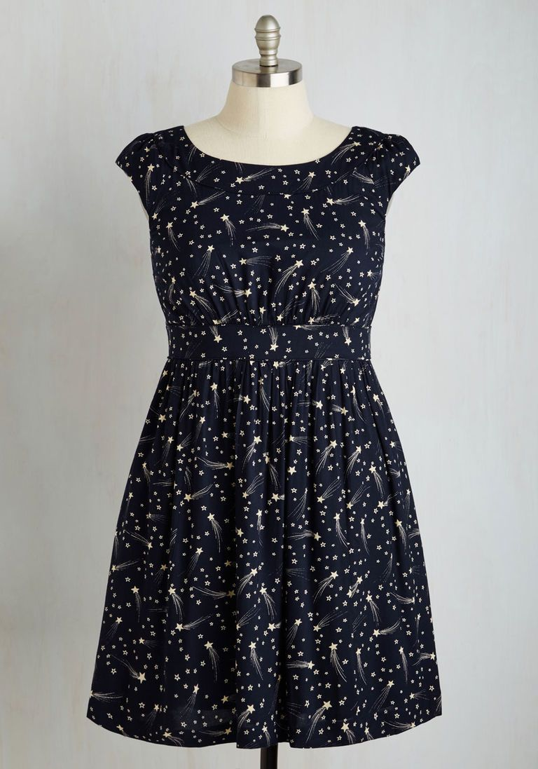 Day After Day A-Line Dress in Shooting Stars