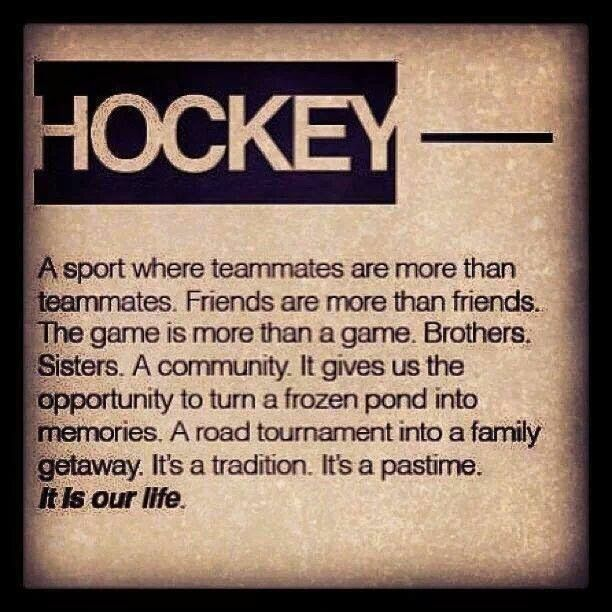 Hockey Quotes My Hockey Sisters Are Family Everything Hockey  Pinterest