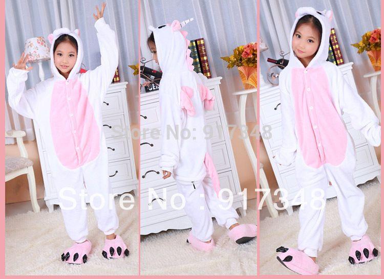 Pink Unicorn Pony Horse Onesies for Children Onesie Pajamas Jumpsuit  Hoodies Sleepwear For Kids 713fcd217