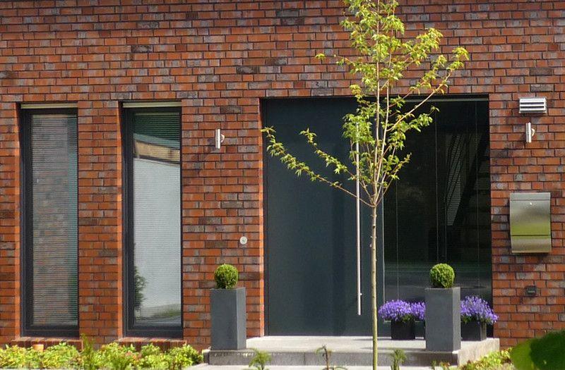 Stadtvilla roter klinker  Architektenhaus_roter_Klinker_MS_Eingang | Haus-Ideen | Pinterest ...