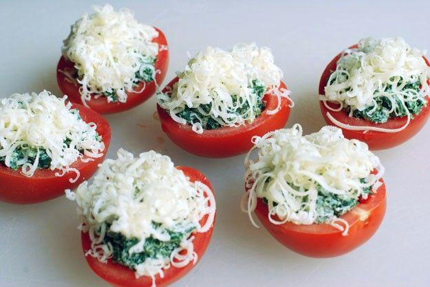 Creamy Spinach-StuffedTomatoes - Circle B Kitchen - Circle B Kitchen