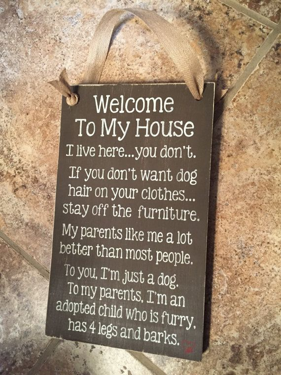 Welcome To My House Dog Rules This Sign Is By Likeisaid Dog