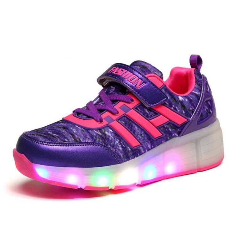 33.28$ Watch more here - 2017 Children Shoe With Single/Double Wheel Light  LED