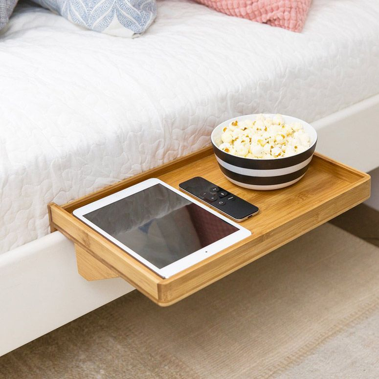 Bedshelfie Clamp On Bedside Shelf Tray In 2020 Bedside Shelf Standard Bed Frame Shelves