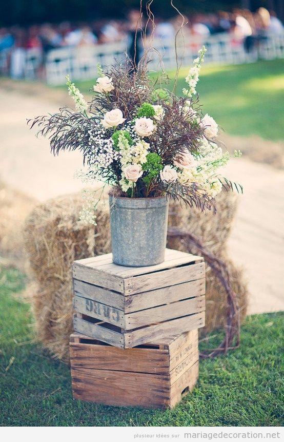 Id e d co mariage rustique et chic wedding pinterest for Decoration rustique campagne