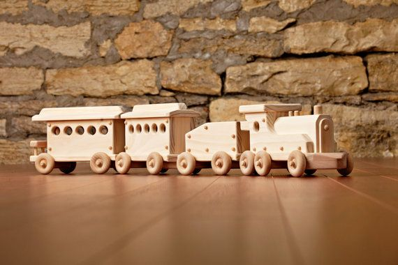 Kringle Limited wooden train by KringleWorkshops on Etsy, $145.00